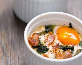 Trứng nướng bằng nồi chiên không dầu