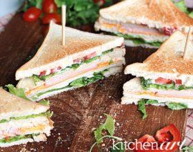 Club sandwich siêu nhanh cho bữa sáng
